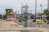 Oklahoma City, Oklahoma.  Billboards and Advertisements along North May Avenue.