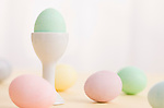 Easter eggs and eggcup