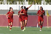 4th September 2021; Agostino di Bartolomei Stadium, Rome, Italy; Serie A womens championship football, AS Roma versus Napoli ; Andressa Alves of AS Roma celebrates their goal