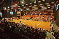 14-sept.-2013,Netherlands, Groningen,  Martini Plaza, Tennis, DavisCup Netherlands-Austria, Doubles,   Overall view<br /> Photo: Henk Koster