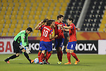 Korea Republic vs Uzbekistan during the AFC U-22 Mens Championship Qatar 2016 Group C match on January 13, 2016 at the Suhaim Bin Hamad Stadium in Doha, Qatar. Photo by Adnan Hajj / World Sport Group