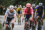 Race leader Yellow Jersey Mathieu Van Der Poel (NED) Alpecin-Fenix in the breakaway during Stage 7 of the 2021 Tour de France, running 249.1km from Vierzon to Le Creusot, France. 2nd July 2021.  <br /> Picture: A.S.O./Pauline Ballet | Cyclefile<br /> <br /> All photos usage must carry mandatory copyright credit (© Cyclefile | A.S.O./Pauline Ballet)