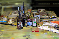 Pictured: The artist's studio Friday 02 December 2016<br /> The Sidney Nolan Trust, Rodd, Herefordshire, England, UK