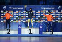 SPEEDSKATING: HEERENVEEN: 17-01-2021, IJsstadion Thialf,  ISU European Championships, Nils van der Poel, ©photo Martin de Jong SPEEDSKATING: HEERENVEEN: 17-01-2021, IJsstadion Thialf, ISU European Speed Skating Championships, ©photo Martin de Jong