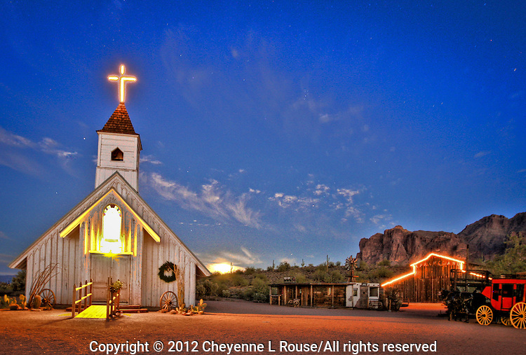Old West Chapel - Arizona<br /> Superstition Mountain Museum - Apache Junction <br /> © 2012 Cheyenne L Rouse/All rights reserved