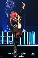 ANAHEIM, CA - FEBRUARY 13: Singer Demi Lovato performs at her Neon Lights Concert Tour at the Honda Center on February 13, 2014 in Anaheim, California. (Photo by Xavier Collin/Celebrity Monitor)