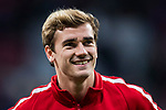 Antoine Griezmann of Atletico de Madrid looks on prior to the UEFA Europa League 2017-18 Round of 16 (1st leg) match between Atletico de Madrid and FC Lokomotiv Moscow at Wanda Metropolitano  on March 08 2018 in Madrid, Spain. Photo by Diego Souto / Power Sport Images