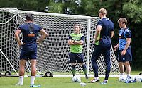 Manager Gareth Ainsworth watches the training during the Wycombe Wanderers 2016/17 Pre Season Training Session at Wycombe Training Ground, High Wycombe, England on 1 July 2016. Photo by Andy Rowland / PRiME Media Images.