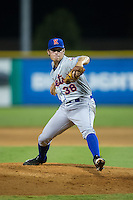 Kingsport Mets relief pitcher Joe Napolitano (38) in action against the Burlington Royals at Burlington Athletic Stadium on July 18, 2016 in Burlington, North Carolina.  The Royals defeated the Mets 8-2.  (Brian Westerholt/Four Seam Images)