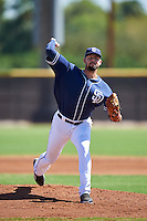 San Diego Padres pitcher Walker Weickel (32) during an Instructional League game against the Texas Rangers on October 3, 2016 at the Peoria Sports Complex in Peoria, Arizona.  (Mike Janes/Four Seam Images)
