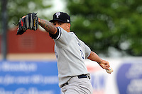 Staten Island Yankees pitcher Taylor Morton (6) during game against the Brooklyn Cyclones at MCU Park on June 18, 2012 in Brooklyn, NY.  Brooklyn defeated Staten Island 2-0.  Tomasso DeRosa/Four Seam Images
