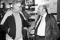 Montreal (qc) CANADA - file Photo - 1992 - <br /> Films Juste Pour Rire - Jean-Pierre Tadros (L), Rock Demers (R)