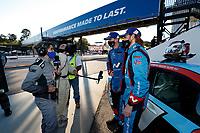 Winners #98 Bryan Herta Autosport w/ Curb Agajanian Hyundai Veloster N TCR, TCR: Michael Lewis, Mason Filippi, NBC