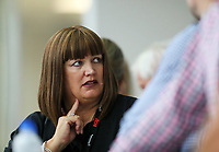 Raelene Castle, Chief Executive of Sport New Zealand during Session 5 of the AON New Zealand Swimming Champs, National Aquatic Centre, Auckland, New Zealand. Wednesday 7 April 2021 Photo: Simon Watts/www.bwmedia.co.nz