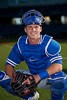 Oklahoma City Dodgers catcher Will Smith (10) poses for a photo before a Pacific Coast League game against the New Orleans Baby Cakes on May 6, 2019 at Shrine on Airline in New Orleans, Louisiana.  New Orleans defeated Oklahoma City 4-0.  (Mike Janes/Four Seam Images)