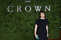 "Olivia Colman<br /> arriving for ""The Crown"" series 3 premiere at the Curzon Mayfair, London.<br /> <br /> ©Ash Knotek  D3533 13/11/2019"