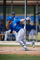Toronto Blue Jays Bradley Jones (52) follows through on a swing during a minor league Spring Training game against the New York Yankees on March 30, 2017 at the Englebert Complex in Dunedin, Florida.  (Mike Janes/Four Seam Images)