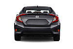 Straight rear view of a 2019 Honda Civic Elegance 4 Door Sedan stock images