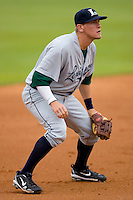 Third baseman Jonathan Meyer #11 of the Lexington Legends on defense against the Kannapolis Intimidators at Fieldcrest Cannon Stadium April 14, 2010, in Kannapolis, North Carolina.  Photo by Brian Westerholt / Four Seam Images