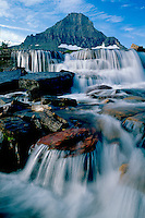 Reynolds Creek and Reynolds Mountain<br /> Logan Pass<br /> Glacier National Park<br /> Rocky Mountains,  Montana