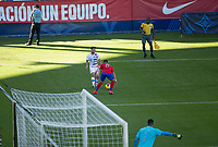 CARSON, CA - FEBRUARY 1: Paul Arriola #7 of the United States moves with the ball during a game between Costa Rica and USMNT at Dignity Health Sports Park on February 1, 2020 in Carson, California.