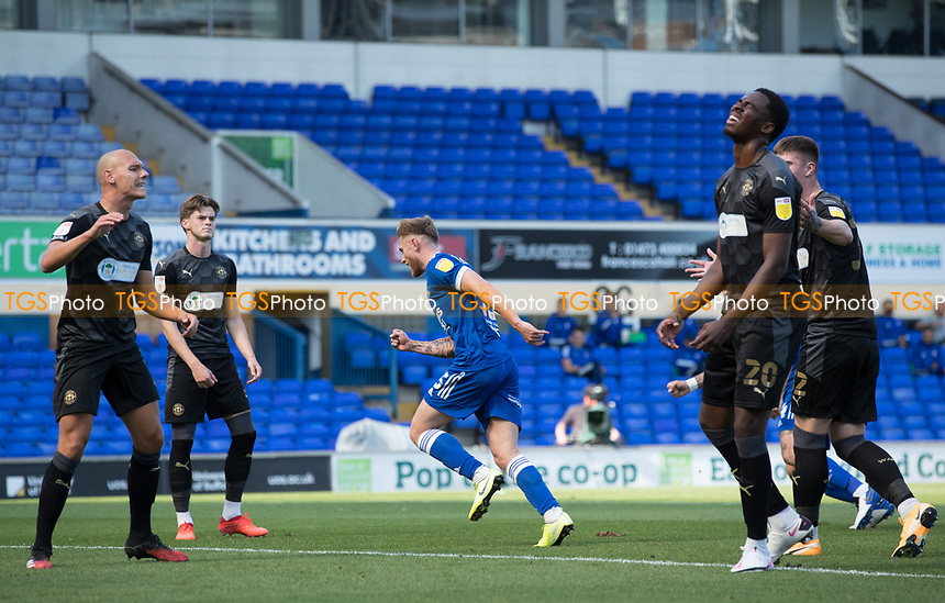 Teddy Bishop of Ipswich Town celebrates the opening goal during Ipswich Town vs Wigan Athletic, Sky Bet EFL League 1 Football at Portman Road on 13th September 2020