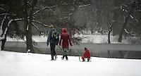 Erneuter Schneefall - der Winter ist zurück - Bilder aus dem Clara-Zetkin-Park aufgenommen am 12.03.2013 . Foto: Norman Rembarz