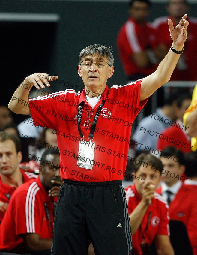 Bogdan TANJEVIC (Turkey) head coach, reacts during the Final World championship basketball match against USA in Istanbul, Turkey-USA, Turkey on Sunday, Sep. 12, 2010. (Novak Djurovic/Starsportphoto.com) .