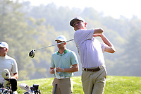 SAPPHIRE, NC - OCTOBER 01: Michael Coe of Western Carolina University tees off at The Country Club of Sapphire Valley on October 01, 2019 in Sapphire, North Carolina.