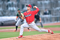 Northern Division starting pitcher Nick Fanti (20) of the Lakewood BlueClaws delivers a pitch during the South Atlantic League All Star Game at Spirit Communications Park on June 20, 2017 in Columbia, South Carolina. The game ended in a tie 3-3 after seven innings. (Tony Farlow/Four Seam Images)