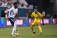 Orlando, FL - Saturday July 22, 2017: Georges-Kevin Nkoudou, Dani Alves during the International Champions Cup (ICC) match between the Tottenham Hotspurs and Paris Saint-Germain F.C. (PSG) at Camping World Stadium.