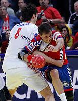 Dalibor Cutura during men`s EHF EURO 2012 championship semifinal handball game between Serbia and Croatia in Belgrade, Serbia, Friday, January 27, 2011.  (photo: Pedja Milosavljevic / thepedja@gmail.com / +381641260959)