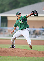 Alex Sanabia of the Jamestown Jammers, Class-A affiliate of the Florida Marlins, during New York-Penn League baseball action.  Photo by Mike Janes/Four Seam Images