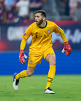 NASHVILLE, TN - SEPTEMBER 5: Matt Turner #1 of the United States looks to the ball during a game between Canada and USMNT at Nissan Stadium on September 5, 2021 in Nashville, Tennessee.