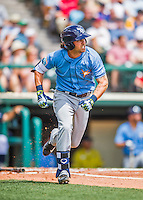 14 March 2016: Tampa Bay Rays infielder Nick Franklin, in action during a pre-season Spring Training game against the Atlanta Braves at Champion Stadium in the ESPN Wide World of Sports Complex in Kissimmee, Florida. The Ray fell to the Braves 5-0 in Grapefruit League play. Mandatory Credit: Ed Wolfstein Photo *** RAW (NEF) Image File Available ***
