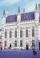 Bruges: The Town Hall, 1376.   Photo '87.