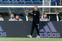 FOXBOROUGH, MA - SEPTEMBER 23: New England Revolution coach Bruce Arena watches the play during a game between Montreal Impact and New England Revolution at Gillette Stadium on September 23, 2020 in Foxborough, Massachusetts.