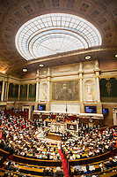 A view of the National Assembly in Paris, France, December 13, 2016 # BERNARD CAZENEUVE PRONONCE SON DISCOURS DE POLITIQUE GENERALE