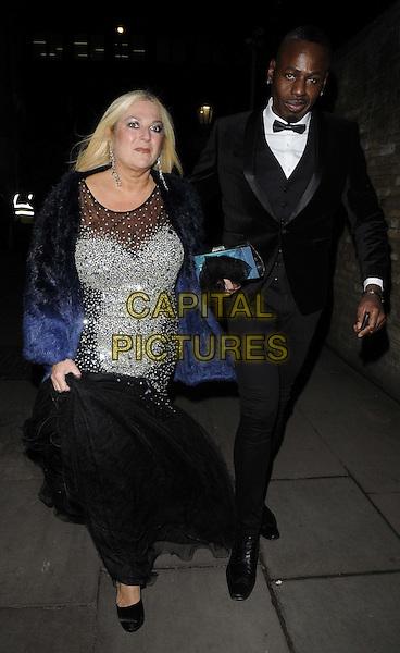 LONDON, ENGLAND - NOVEMBER 30: Vanessa Feltz & Ben Ofoedu at the Emeralds & Ivy Ball, Old Billingsgate, Old Billingsgate Walk, on Saturday November 30,  2013 in London, England, UK.<br /> CAP/CAN<br /> ©Can Nguyen/Capital Pictures