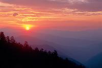 Sunrise from Newfoundland Gap<br /> Great Smoky Mountains<br /> Great Smoky Mountains National Park<br /> North Carolina