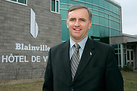 Montreal (Qc) CANADA - file photo- April 27, 2007<br /> Francois cantin, Mayor of Blainville, near Montreal<br /> Photo (c)  Images Distribution