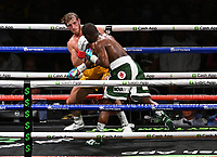 MIAMI GARDENS FL - JUNE 06: Floyd Mayweather Vs Logan Paul during their contracted exhibition boxing match at Hard Rock Stadium in Miami Gardens on June 6, 2021 in Miami Gardens, Florida. <br /> CAP/MPI04<br /> ©MPI04/Capital Pictures