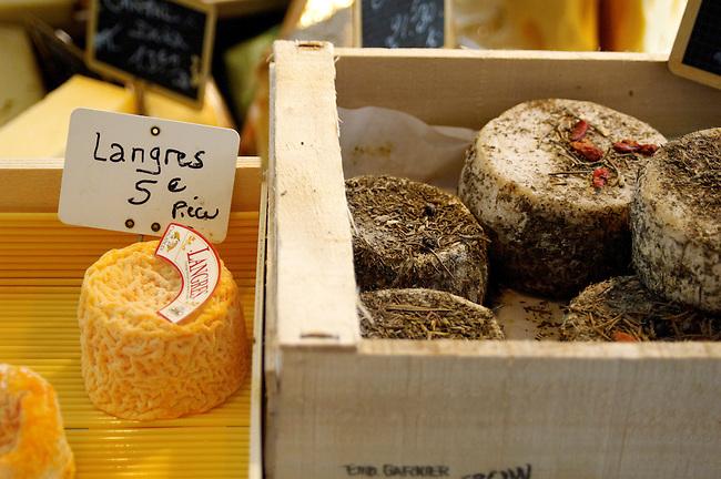 organic farm goats cheese. Langres. Honfleur market France