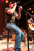 """Vocalist Brad Arnold of 3 Doors Down performs on stage during the acoustic """"Songs From the Basement"""" tour at the House of Blues on Tuesday January 14, 2014 in Los Angeles, CA. (Photo by: Paul A. Hebert / Press Line Photos)"""