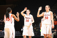Sophomore Chelsea Shine (Wayne, Pa.) led three Cavalier double-digit scorers with a career-high 27 points and the Virginia women's basketball team defeated USC Upstate, 110-63, Wednesday Nov. 18, 2009 at John Paul Jones Arena.  (Photo/Andrew Shurtleff)