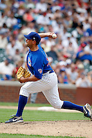 August 9, 2009:  Pitcher Vince Perkins of the Iowa Cubs during a game at Wrigley Field in Chicago, IL.  Iowa is the Pacific Coast League Triple-A affiliate of the Chicago Cubs.  Photo By Mike Janes/Four Seam Images