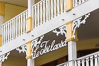France, île de la Réunion, Parc national de La Réunion, classé Patrimoine Mondial de l'UNESCO, Cilaos, village jumelé avec Chamonix, maison créole, Hôtel Le Tsilaosa  //  France, Reunion island (French overseas department), Parc National de La Reunion (Reunion National Park), listed as World Heritage by UNESCO, cirque of Cilaos, Creole house ,  Le Tsilaosa hotel