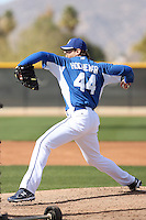 Luke Hochevar #44 of the Kansas City Royals participates in spring training workouts at the Royals complex on February 21, 2011  in Surprise, Arizona. .Photo by:  Bill Mitchell/Four Seam Images.