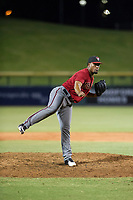 AZL Diamondbacks relief pitcher Nestor Ramirez (44) follows through on his delivery against the AZL Cubs on August 11, 2017 at Sloan Park in Mesa, Arizona. AZL Cubs defeated the AZL Diamondbacks 7-3. (Zachary Lucy/Four Seam Images)