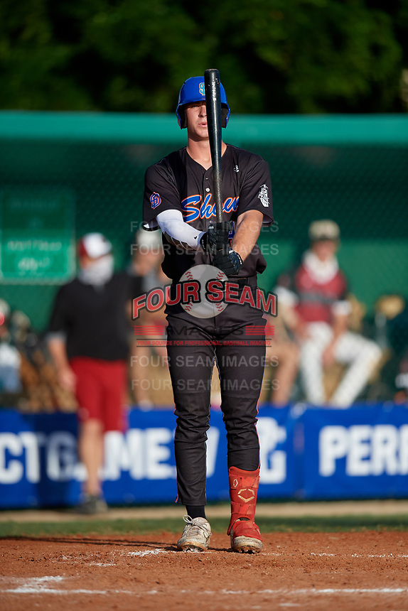 Gabe D'Arcy (48) during the WWBA World Championship at Terry Park on October 10, 2020 in Fort Myers, Florida.  Gabe D'Arcy, a resident of San Clemente, California who attends JSerra Catholic High School, is committed to Arkansas.  (Mike Janes/Four Seam Images)